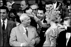 bob-henriques-nikita-khrushchev-and-shirley-maclaine-hollywood-california-photographs-silver-print