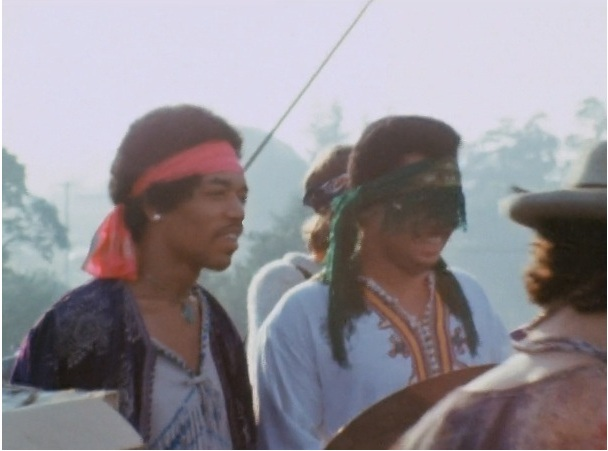 Larry Lee with Jimi Hendrix at Woodstock