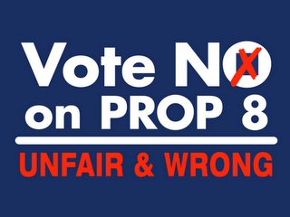 No on Prop 8 poster