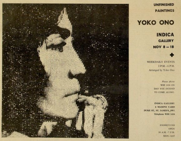 Yoko Ono poster for show at The Indica Gallery