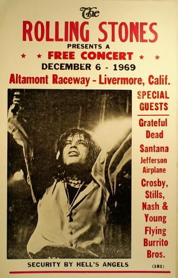 Rolling Stones Altamont Banquet