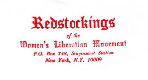 Women's Liberation Movement Redstockings