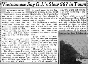 Vietnam My Lai Massacre