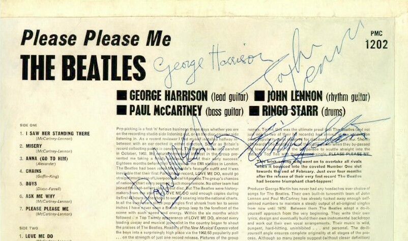 Beatles Please Please Me Album