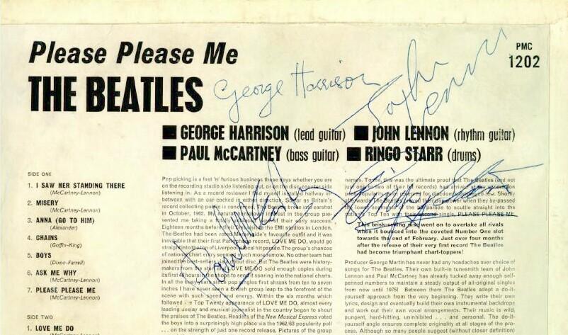 Beatles Please Please Me Album