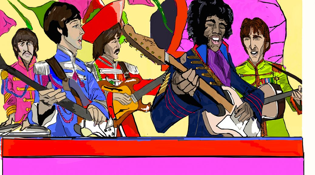 Hendrix plays Sgt Pepper