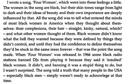 Nina Simone Four Women