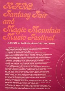 Fantasy Fair Magic Mountain Music Festival