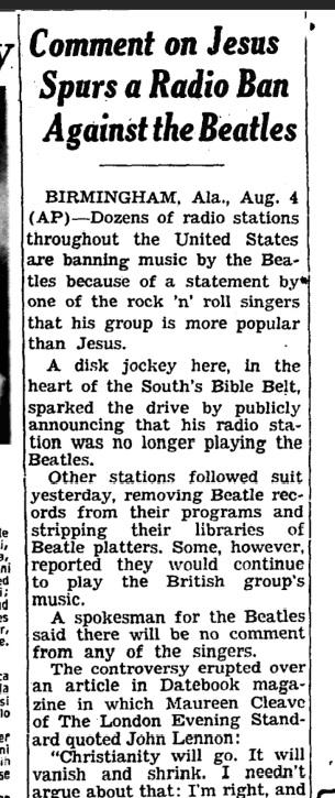 John Lennon Opines Jesus