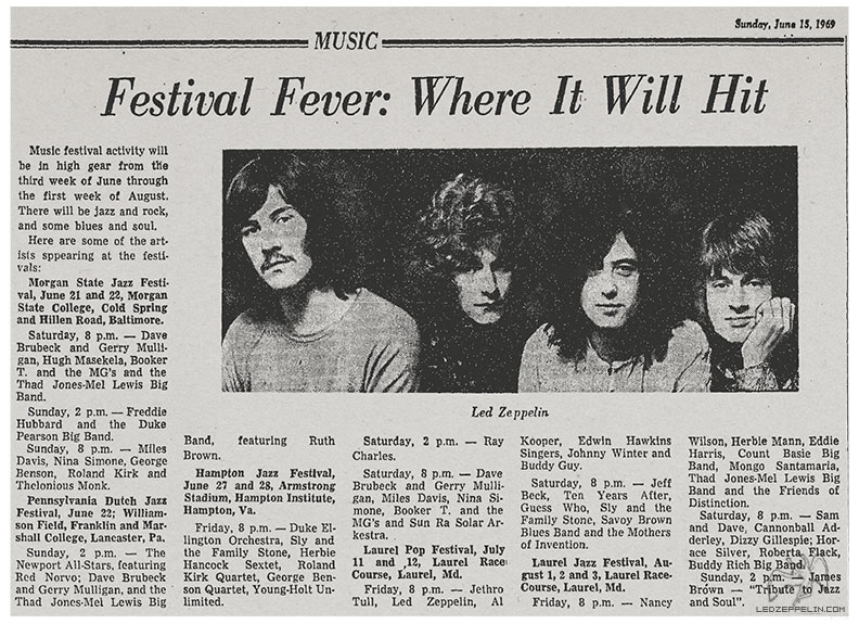 1969 Laurel Pop Festival