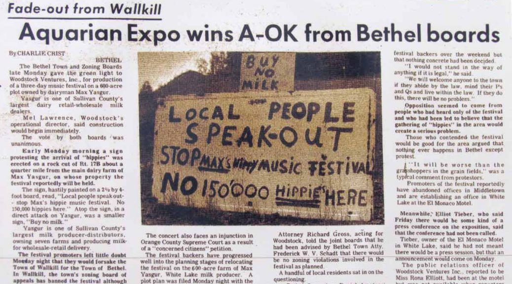 Bethel Becomes Woodstock
