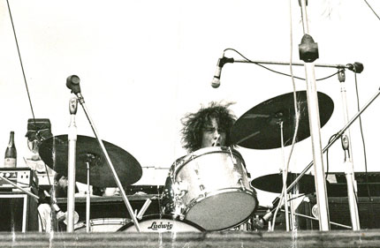 Young Drummer Michael Shrieve