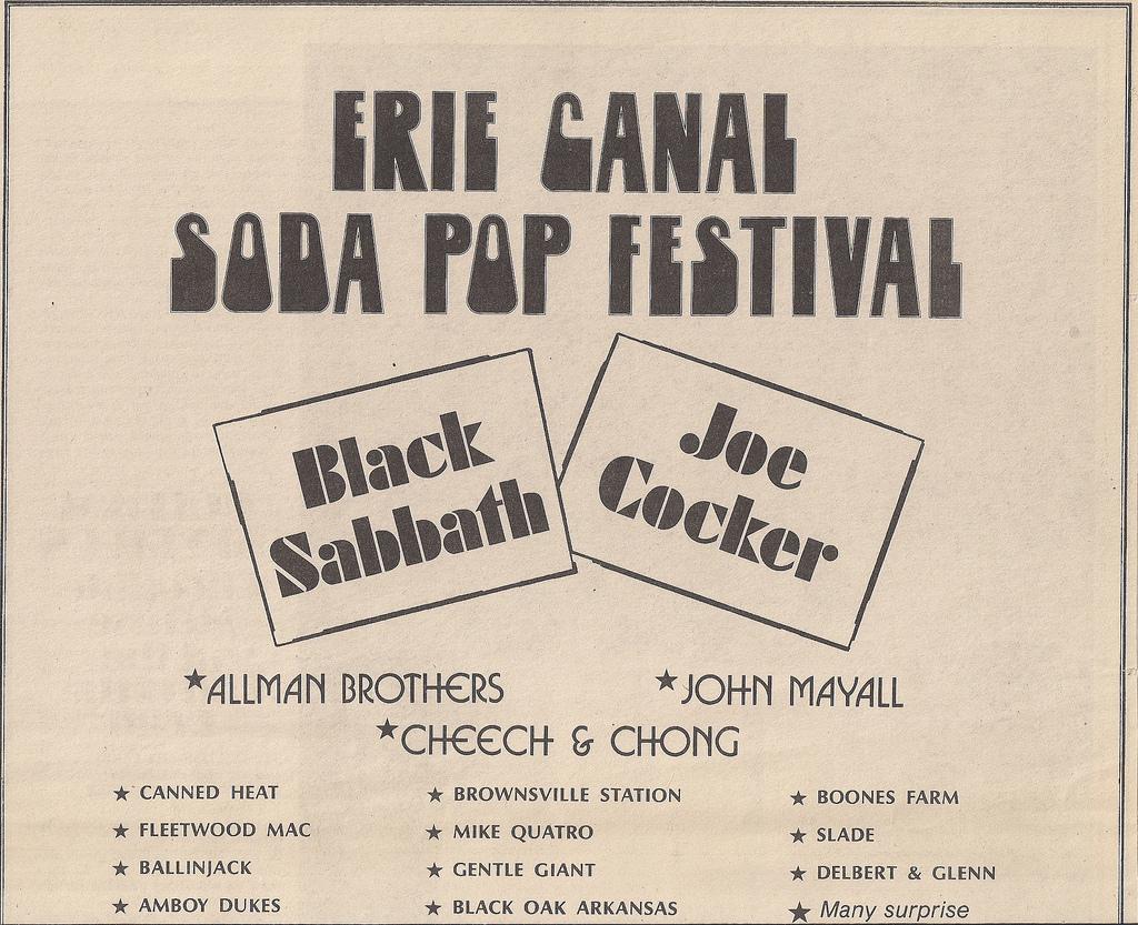 Erie Canal Soda Pop Festival