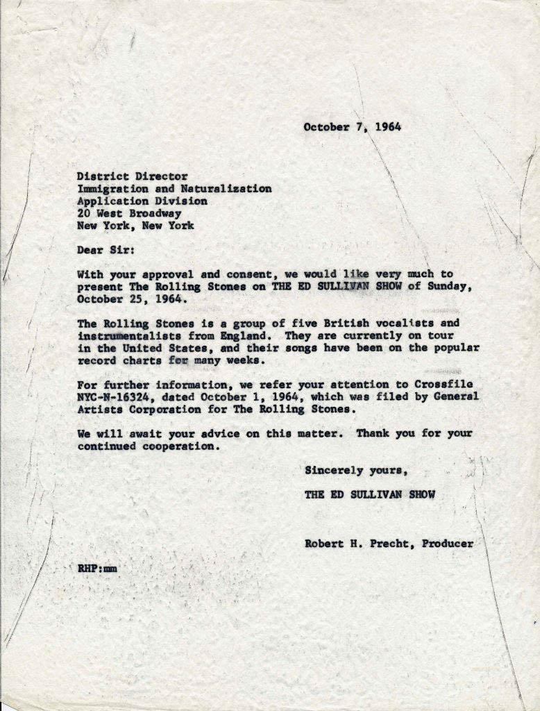 Ed Sullivan Meets Rolling Stones