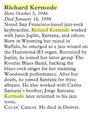 Kozmic Keyboardist Richard Kermode