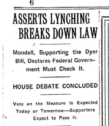 Dyer Anti-Lynching bill