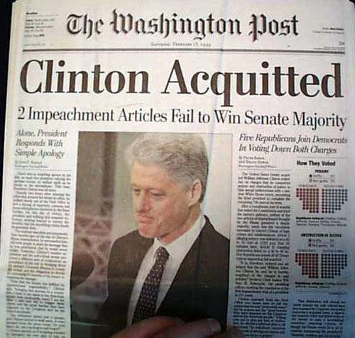 President Bill Clinton Impeachment - The Woodstock ...