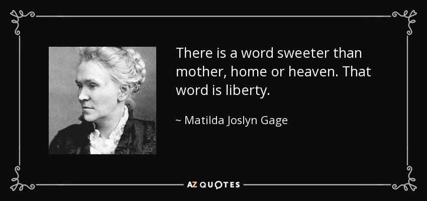 Activist Matilda Josyln Gage