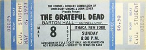 Grateful Dead Barton Hall Cornell 1977