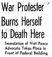 American Protest Immolations Vietnam War