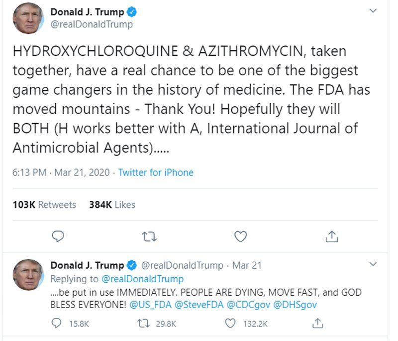 Trump COVID 19 Continue